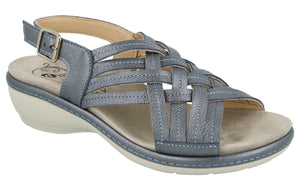 EasyB 78859N Worcester Navy (2V) Womens Wide Fit Casual Comfort Sandals
