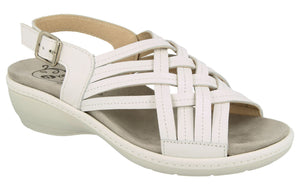EasyB 78859W Worcester White (2V) Womens Wide Fit Casual Comfort Sandals