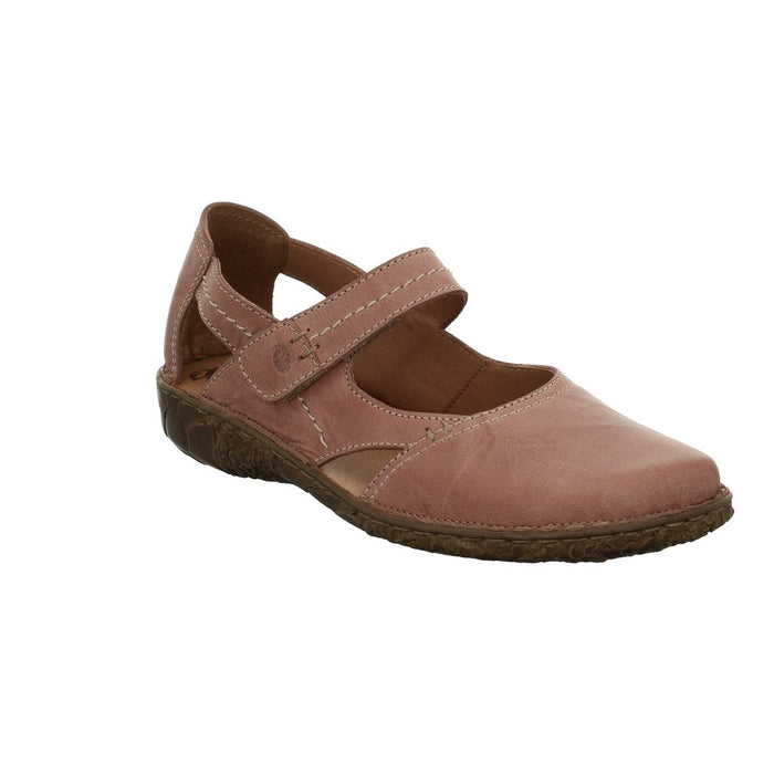 Josef Seibel Rosalie 37 Rosa Nubuck Closed In Mary Jane Shoe Sandals