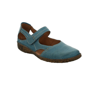 Josef Seibel Rosalie 37 Azur Nubuck Closed In Mary Jane Shoe Sandals