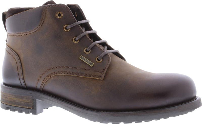Country Jacks Joshua Brown Mens Casual Leather Lace Up Ankle Boots