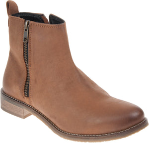 Adesso 03168 Megan Tan Womens Casual Comfort Leather Ankle Boots