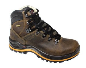Grisport Aztec Crazy Horse Mens Wider Fit Leather Waterproof Hiking Boots Brown