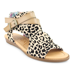 Blowfish BF5486 Balla Leopard/Sand Womens Casual Comfort Open Toe Sandals
