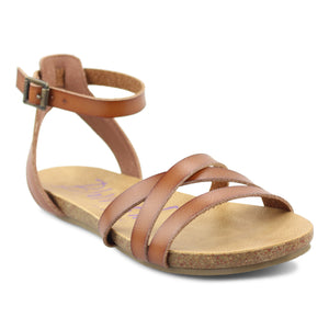 Blowfish BF6425 Galie Brown Womens Casual Comfort Buckled Sandals