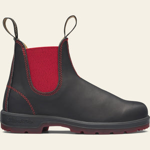 Blundstone 1316 Black/Red Vultan Unisex Premium Leather Stylish Chelsea Boots