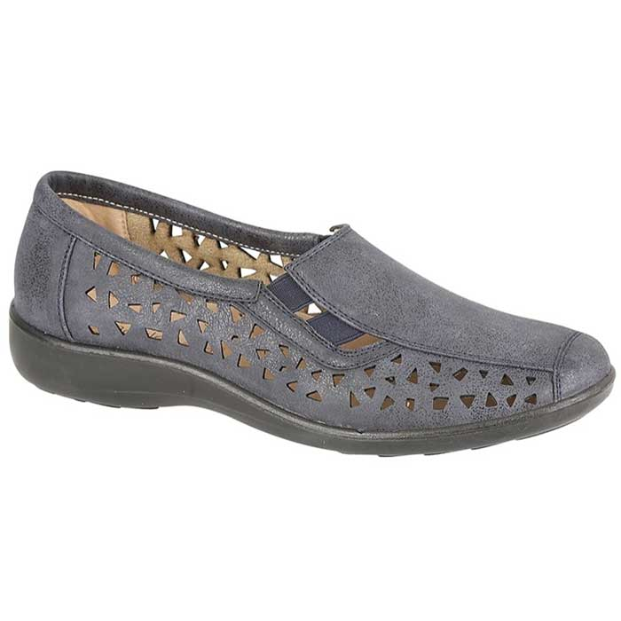 Boulevard L130C Navy Womens Casual Comfort Shoes
