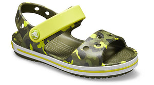 Crocs Crocband Seasonal Graphic Citrus Kids Casual Comfort Sandals