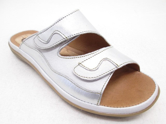 Corkies 14A211 White Platine Womens Casual Stylish Open Toe Mules