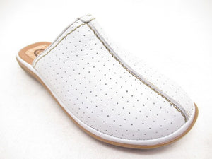 Corkies 15AO89P White Womens Casual Leather Slip On Mules