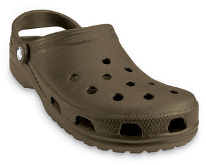 Crocs Classic Chocolate Mens Unisex Roomy Fit Casual Comfort Clogs