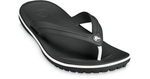 Crocs Crocband Flip Black/White Mens Light Easy to Wear Flip Flops
