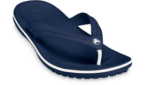 Crocs Crocband Flip Navy/White Mens Light Easy to Wear Flip Flops