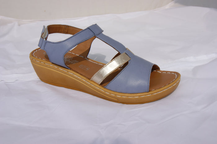 Roselli GEN-2886 Navy/Gold Womens Casual Stylish Open Toe Sandals