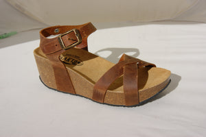 Plakton 275087 Sitges Hi Tan Womens Casual Comfort Leather Sandals
