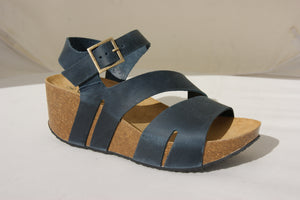 Plakton 275651 Rome Hi Navy Womens Casual Comfort Leather Sandals