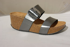 Plakton 273004 Alicante Hi Pewter Womens Casual Comfort Leather Sandals