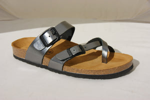 Plakton 101032 Savannah Pewter Womens Casual Comfort Leather Sandals