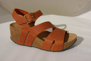 Plakton 275651 Rome Hi Whisky Womens Casual Comfort Leather Sandals
