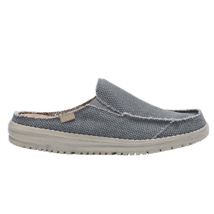 Dude Martin Braided Navy Men's Slip On Casual Canvas Relaxed Fit Mules