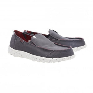 Dude Farty Funk Roughcut Grey Men's Slip On Convertible Casual Canvas Shoes