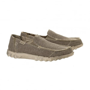 Dude Farty Natural Tundra Mens Slip On Organic Cotton Canvas Shoes