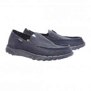 Dude Farty Roughcut Night Blue Men's Slip On Convertible Canvas Casual Shoes