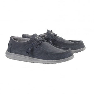 Dude Wally Classic Oceano Men's Slip On Elastic Lace Canvas Shoes