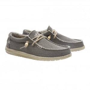 Dude Wally Natural Army Men's Slip On Organic Cotton Canvas Shoes