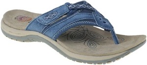 Earth Spirit Juliet Cobalt Blue Womens Casual Comfort Leather Toe Post Sandals