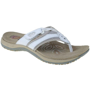 Earth Spirit Juliet White Womens Casual Comfort Leather Toe Post Sandals
