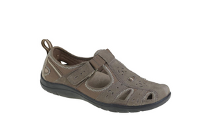 Earth Spirit Cleveland Sedona Brown Womens Casual Touch Fastening Suede Shoes