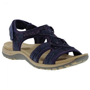 Earth Spirit Fairmont Navy Women's Casual Adjustable Heel Strap Sandals