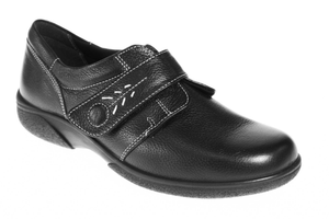EasyB 73315A Healey Black 8E Womens Casual Comfort Wide Fit Shoes