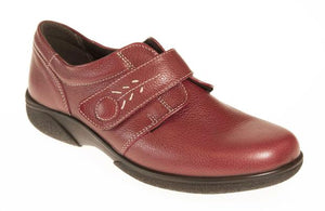 EasyB 78315R Healey Russet Red Leather 2E Wide fit Comfort Shoes