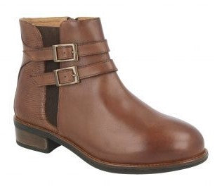 EasyB 78650B Jemma Chestnut (2V) Womens Casual Comfort Leather Ankle Boots