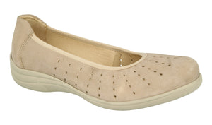 EasyB 68176H Beige (EV) Womens Casual Comfort Wide Fit Pumps