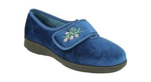 EasyB 71076N Caroline 2 Navy Womens Casual Comfort Washable Slippers House Shoes