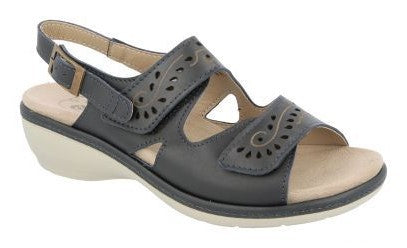 EasyB 78519N Maple Navy (2V) Womens Casual Comfort Sandals
