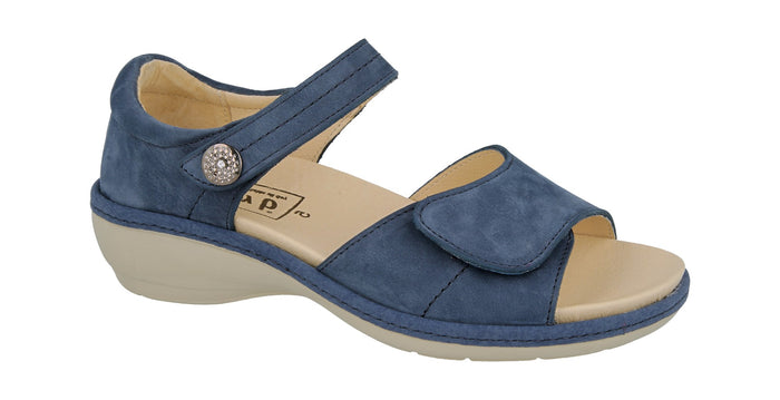 EasyB 78672X Blue Nubuck (2V) Womens Casual Comfort Sandals