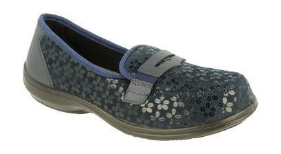 EasyB 78753N Cooper Navy (2V) Womens Casual Comfort Stretch Loafers