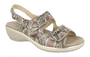 EasyB 78785H Birkin Taupe Reptile (2V) Womens Casual Comfort Leather Sandals