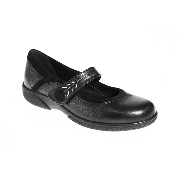 EasyB 79313A Black Womens Casual Comfort Wide Fit Shoes