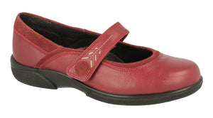 EasyB 79313R Russet Red Womens Casual Comfort Wide Fit Shoes