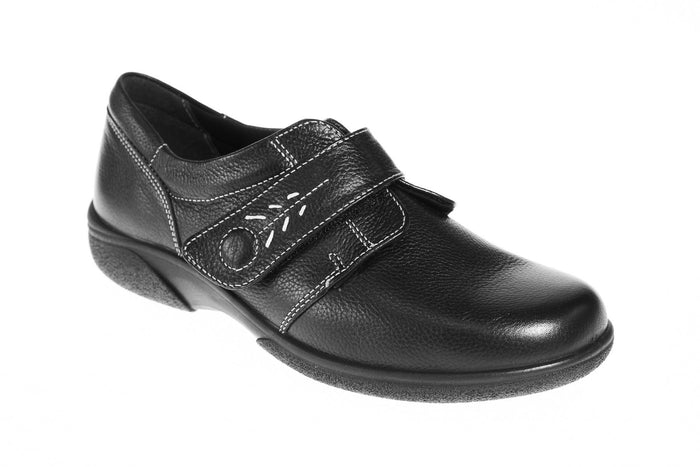EasyB 79315A Healey Black 2E Womens Casual Comfort Wide Fit Shoes