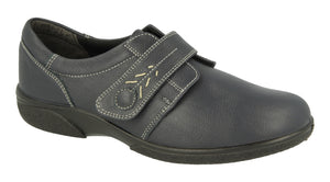 EasyB 79315N Healey Dark Navy Womens Casual Comfort Wide Fit Shoes