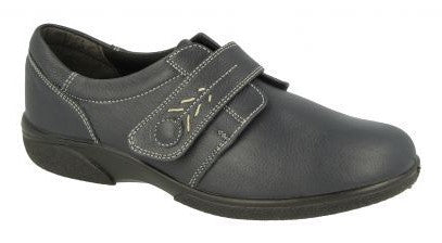 EasyB 79315W Dark Grey Womens Casual Comfort Wide Fit Shoes