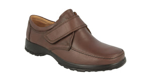 EasyB 87053B Brown Mens Casual Comfort Leather Wide Fit Shoes