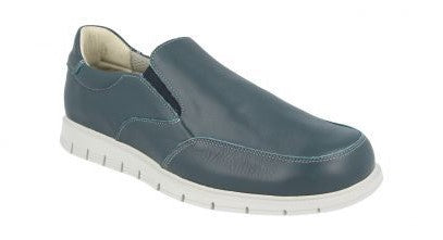 EasyB 87150N Navy Mens Slip On Casual Comfort Leather Wide Fit Shoes
