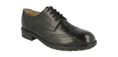 EasyB 87157A Black Mens Lace Up Smart Shoes